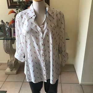 GIRAFFE COLLARED SHIRT